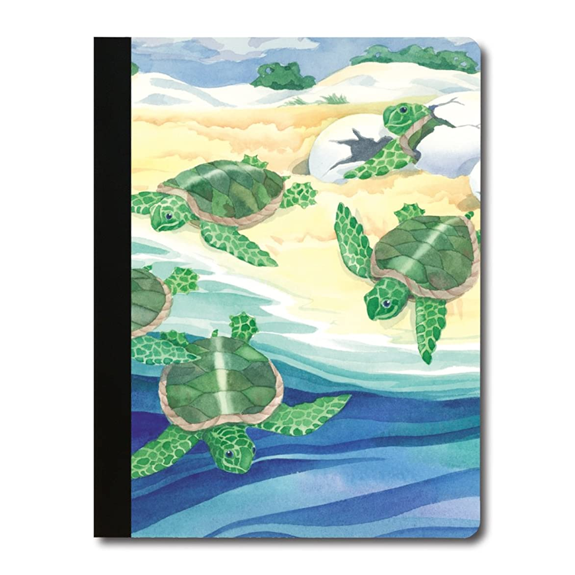 Tree-Free Greetings Sweet Baby Turtles Soft Cover 140 Page  College Ruled Notebook, 9.75 x 7.25 Inches (CJ48400)
