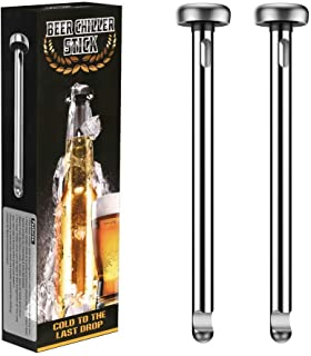 Beer Chiller Sticks for Bottles - Unique Beer Lovers Gifts for Men Boyfriend Colleague - Great Gift Ideas for Christmas, N...
