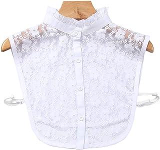 TAKIYA Fake Collar Detachable Blouse Dickey Half Shirts Lace False Collars for Women Girls