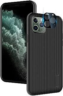 TopACE iPhone 11 Pro カメラフィルム レンズ保護フィルム 【1枚入り】 レンズガード アルミニウムカバー 【iPhone 11 Pro ケース 付き】 全面保護 傷防止 一体感溢れ 高透過率 超耐久 指紋防止 iphone11 pro カメラ保護リング 対応 (ブラック)