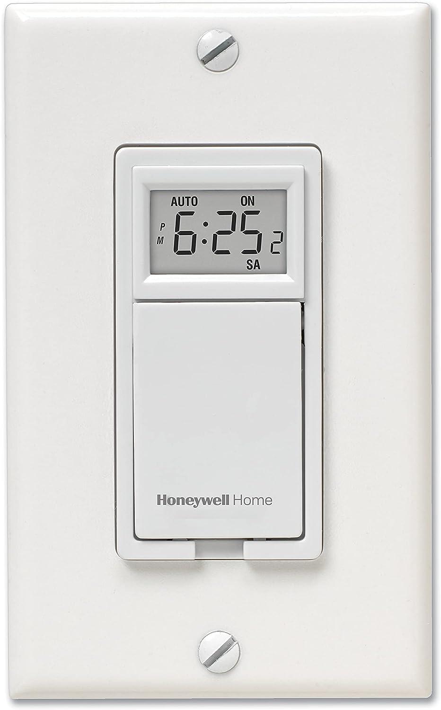 Honeywell Home RPLS730B1000/U RPLS730B1000 7-Day Programmable Light Switch Timer, White