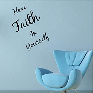 Wall Sticker 51.2Cm*61.8Cm Have Faith In Yourself Quotes Living Room For Kids Room Decal Pvc Wall Sticker