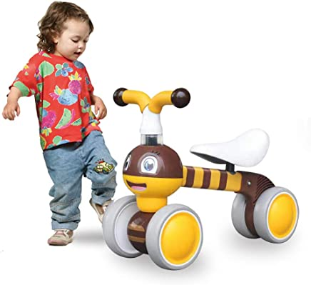 Mingzheng Baby Balance Bike for one Year Old Boys and Girls 4 Wheels Baby Toy Walker 10-24 Months No Pedal