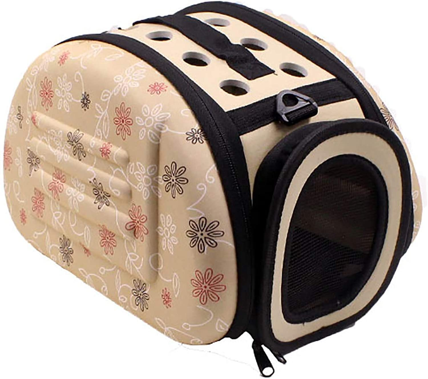 CEFULTY Pet Bags Portable Cat Dog Sleeping Foils Collapsible Pet Travel Bags. (color   Beige, Size   S)