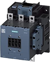 Siemens 3RT10 56-6NB36 Motor Contactor, 3 Poles, S6 Frame Size, Screw Terminals, Solid State Operated Coil, 2 NO + 2 NC Auxiliary Contacts, 185 AC3 Amp Rating, AC 40-60Hz, DC 21-27.3V