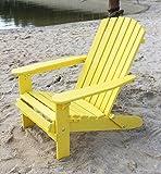 DanDiBo Strandstuhl aus Holz Gelb Gartenstuhl klappbar Adirondack Chair Sonnenstuhl