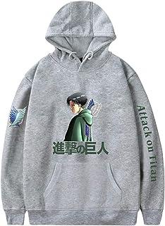 EMLAI Men's Attack on Titan Hoodie Survey Corps Jumper Manga Graphic Anime Cosplay Fleece Hooded Sweatshirt
