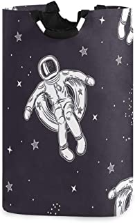 ZOMOY Grand Organiser Paniers pour Vêtements Stockage,L'astronaute Flotte sur Un Cercle Gonflable Spatial,Panier à Linge e...
