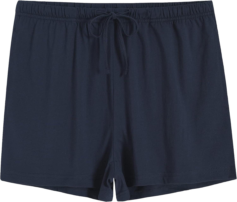 Latuza Women's Cotton Pajama Shorts Knit Lounge Shorts with Pockets