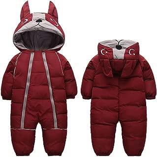 Infant Boy Girl Winter Thick Romper Outwear Warm Hood Snowsuit Jumpsuit