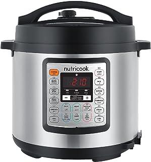 Nutricook Smart Pot Eko by Nutribullet 1000 Watts - 9 in 1 Instant Programmable Electric Pressure Cooker, 6 Liters, 14 Sma...