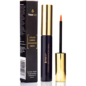 ThickTails Eyelash and Eyebrow Growth Serum - 5ml. For Shorter Lashes and Brows Due to Menopause and Stress. Lash and Brow Growth Boost Enhancing Serum to Grow Longer Fuller Eyelashes and Eyebrows