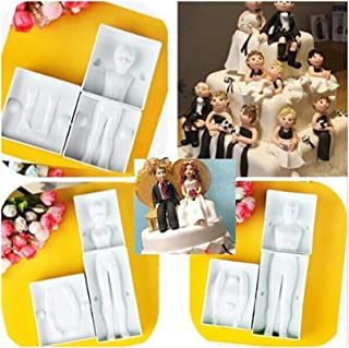 3 Sets (Men&women&kids) 3D Family People Man Body Figure Cake Mold Fondant Modelling Sugarcraft Tools