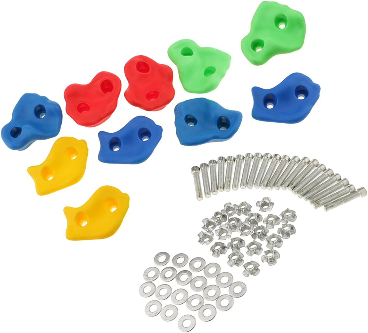 Fityle Rock Climbing Holds  10pc Climbing Holds  Mounting Hardware Included  Climbing Rocks for DIY Rock Climbing Wall