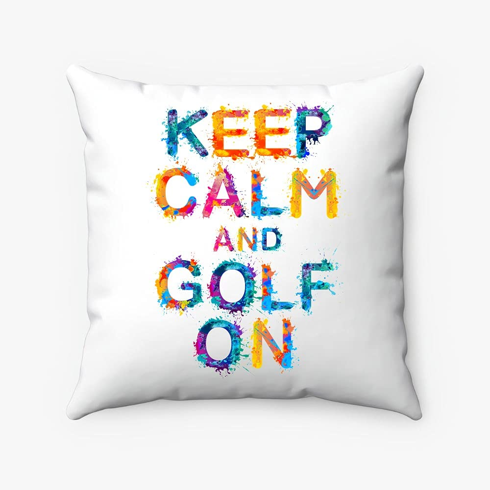 Miniot Keep Calm and Golf On - Decorative Pillow Square Cheap Max 71% OFF sale T