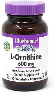 Bluebonnet l-ornithine 500 Mg Vitamin Capsules, 50Count