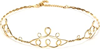Delicate Gold Elven Princess Circlet Style Crown for Women