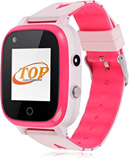 GPS Watch for Kids, IP67 Waterproof 4G Smartwatch GPS WiFi Tracker Video Call Anti Lost Child Watch Android System SOS Ala...