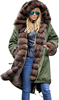 7b38e083f Amazon.com  Plus Size - Fur   Faux Fur   Coats