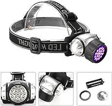 LED Hoofd Zaklamp Led Koplamp Ultraviolet Paars Koplampen Zaklamp Camping Jacht Hoofd Zaklamp Voor Vissen