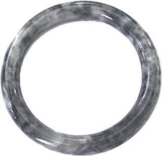 Natural Black Grayish Jadeite Jade Bangle Bracelet 55-66mm Inner Ship from US Warehouse