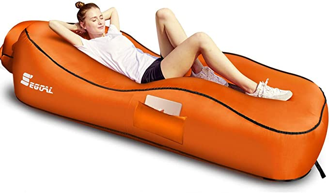 SEGOAL Ergonomic Inflatable Lounger Camping Chair - Most Stable Hammock