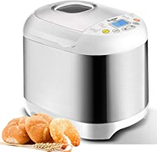COSTWAY Bread Maker Automatic 19 Programmable Multifunctional Bread Machine with 19 Programs, 3 Loaf Sizes, 3 Crust Colors, 15 Hours Delay Timer, 1 Hour Keep Warm (19 Programs 550W)