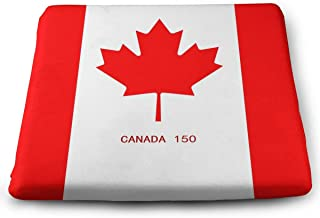 STWINW Indoor/Outdoor Comfortable Memory Foam Seat Cushion Canada Flag Chair Pad Wheelchair Cushion for Office,Vehicles,Home,Truck Driver,Kitchen Chairs,Car