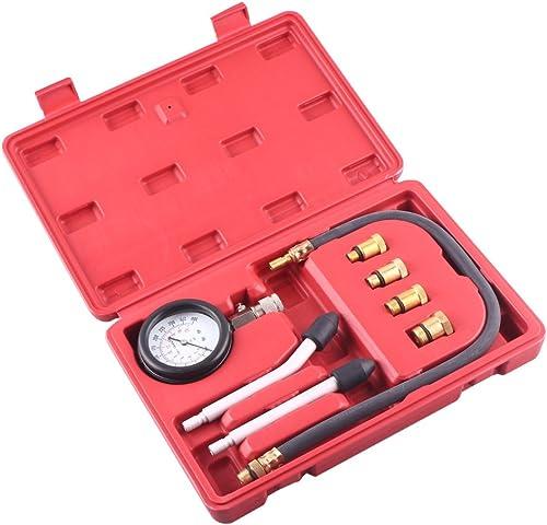 new arrival Mallofusa Multi-Functional Automotive Cylinder Compression online Tester Kit Gauge sale Tool 0-300psi online sale