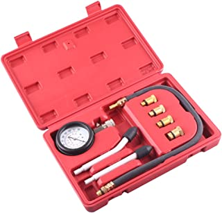 MALLOFUSA Kit de ferramentas de medição de compressão de cilindro automotivo multifuncional 0-300psi