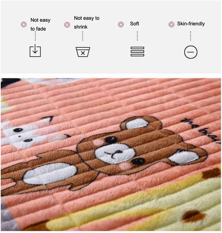 YZT QUEEN Literie Couverture en Velours de Cristal, Couvre-lit Chaud, Convient aux canapés et Lits, Anti-Rides, Anti-décoloration B