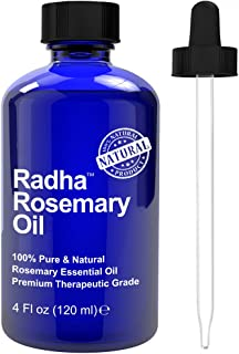 Radha Beauty Rosemary Essential Oil 100% Pure Therapeutic Grade, 4.2 oz