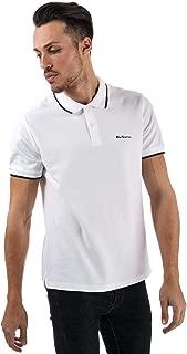 Ben Sherman Men's Tipped Pique Polo Shirt XL White