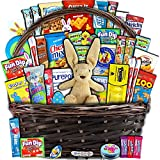 Easter Gift Basket for Kids and Adults (40ct) - Already Filled wrapped with Plush Easter Bunny, Chocolate, Candy, Peeps, and Toys - Boys, Girls, Grandchildren, Young Children, Toddlers, Men, Women
