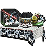 Star Wars Classic Party Supplies Party Pack for 16 Guests Plates, Cups, Napkins, Tablecover