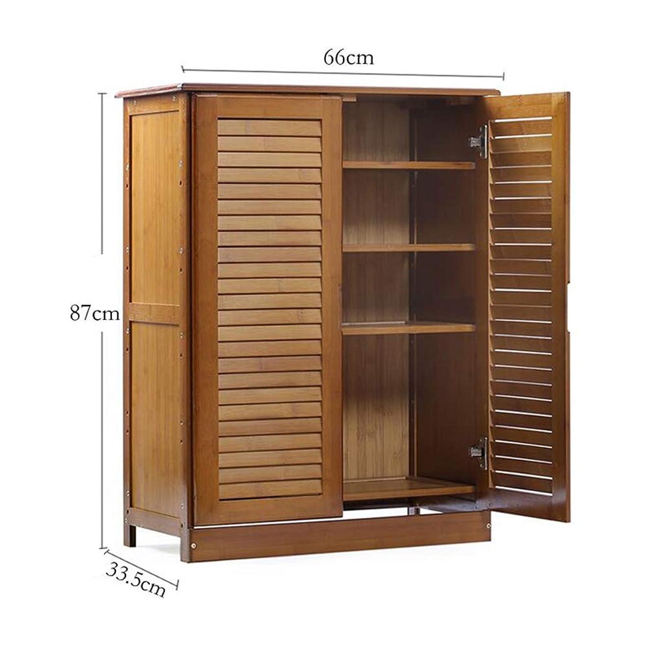技術うんフォアマンXIAOLIN 4層ナチュラルバンブー&木製靴棚棚収納庫入場廊下ロッカーシューボックス (サイズ さいず : 4 layers)