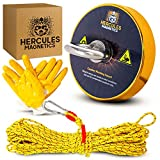 Hercules Magnetics Magnet Fishing Kit – 900Lbs Fishing Magnet with 30M Rope – Fishing Kit – Ultra-Powerful Fishing Magnets with Rope – Triple-Layer Ni-Cu-Ni Coating – Unique Gold Magnet Fishing Magnet