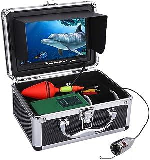 DMNSDD Buscador de Peces, Kit de cámara de Video de Pesca submarina portátil, cámara de visión Nocturna con Luces LED de 6...