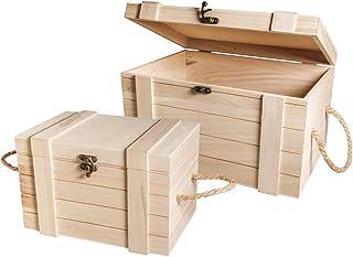 Rayher 62651000coffres en bois FSC de crédit marron poids ¯: 3 02x 2.12x 1 8cm