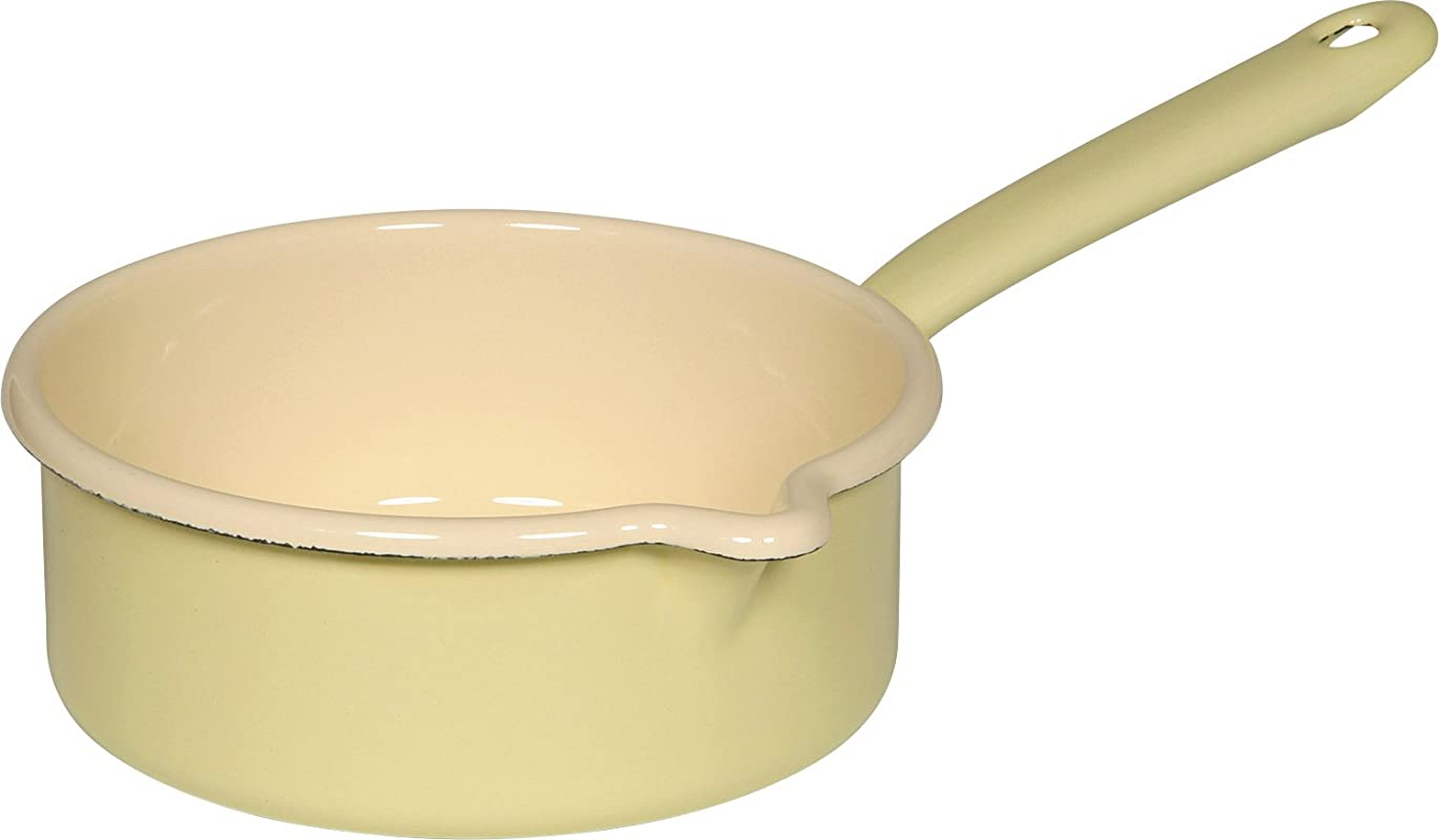 Riess Classic Household Articles Colour Pastel Saucepan With Spout Diameter 16 Cm Yellow