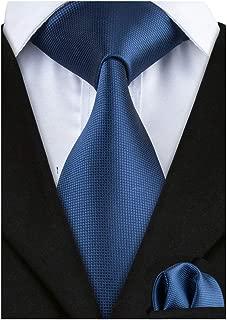Solid Tie Men's Silk Tie Handkerchief Woven Necktie and Pocket Square Set
