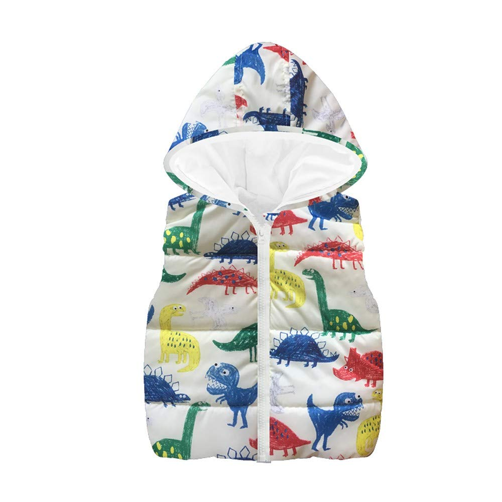 Sikye Infant Cartoon Outfits Newborn Boys Girls Dinosaur Hooded One-Piece Jumpsuit Full Zip Romper Hoodie