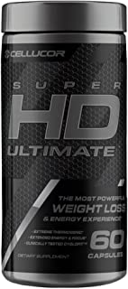 Cellucor SuperHD Ultimate Thermogenic Fat Burner & Weight Loss Supplement with Caffeine and Natural Metabolism Boosters, 6...