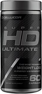 Cellucor SuperHD Ultimate Thermogenic Fat Burner & Weight Loss Supplement with Caffeine and Natural Metabolism Boosters, 60 Capsules