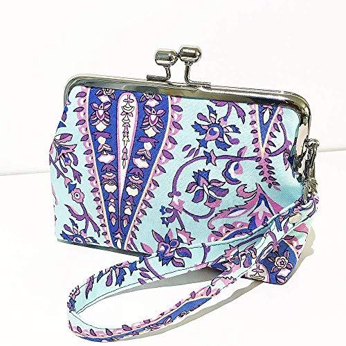 Clipbörse Bügeltäschchen mit Handschlaufe Geldtasche Portemonnaie Münztäschchen Paisley aus Stoff
