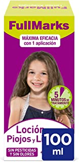 Full Marks Loción Antipiojos para Niños con Lendrera, sin