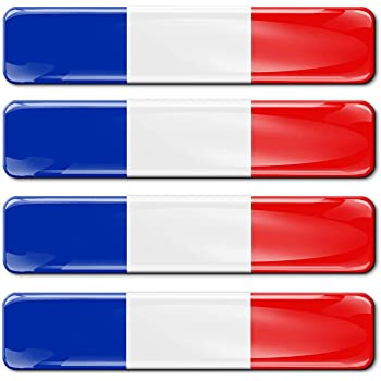 B 195 Vinyl France Flag Sticker Car Moto Motorcycle Helmet Window Tuning Set Of 2 Auto