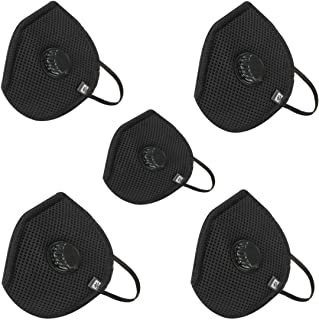 hotshot H95 High Filtration Capacity 6 Layer Face Mask Comfortable and Outdoor Protection Reusable (Black) -Pack of 5