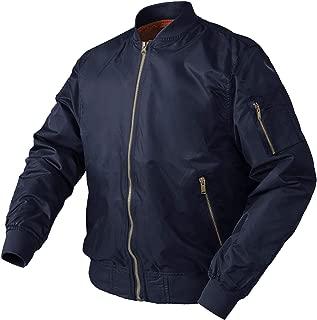 TACVASEN MA-1 メンズ フライトジャケット カッコイイ アウター ミリタリー ブルゾン ストリート ジャンパー 撥水性 ジャケット 綿入れ 保温コート 9939D