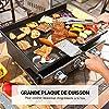 TACKLIFE Plancha au gaz, 3 Brûleurs, 2260cm² Zone de Cuisson, Puissance 7.2kw, Plaque de cuisson en acier émaillé, idéal pour cuisiner en plein air, faire la fête et camper #5